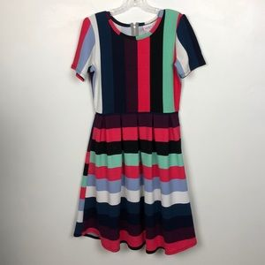 LuLaRoe Striped Fun Amelia Dress Sz Medium